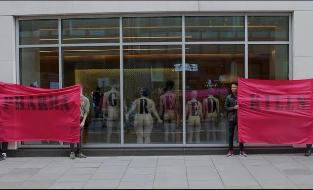 AIDS activists go bare to target austerity